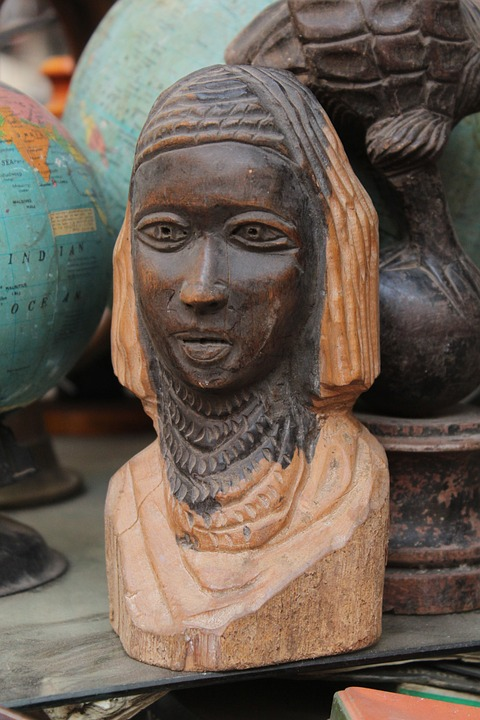 Statue, African, Tribal, Wood, Carving, Sculpture