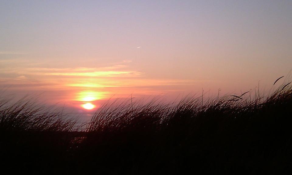 Sunset, Föhr, Afterglow, Evening Sky, Beach, Sea