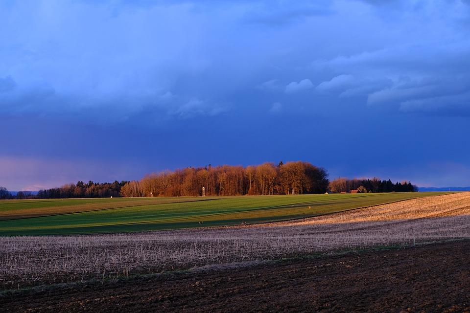 Nature, Landscape, Sunset, Afterglow, Evening Light