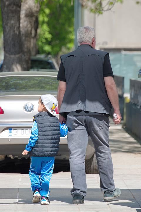 People, Child, Man, Age, Going, The Sidewalk, Street