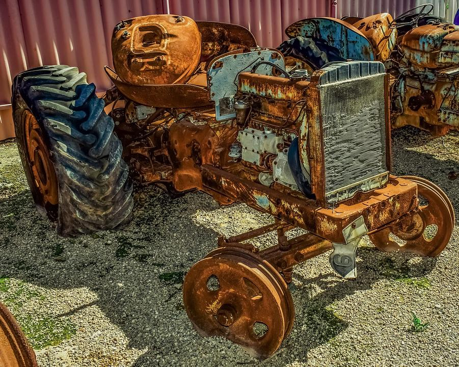Tractor, Old, Rusty, Aged, Weathered, Wreck, Decay