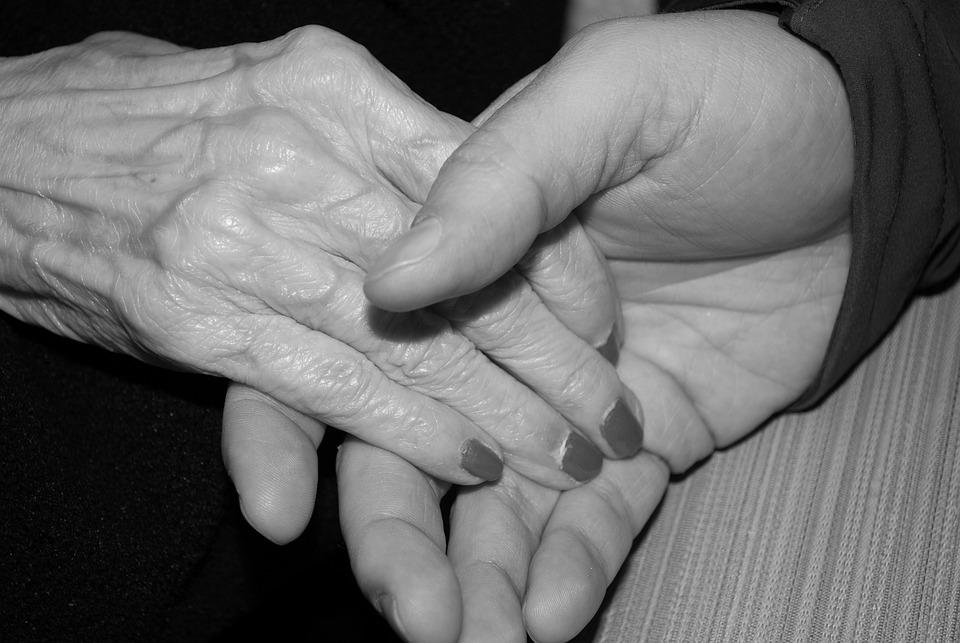 Hands, Aged, Elderly, Old, Senior, Skin, Holding Hands