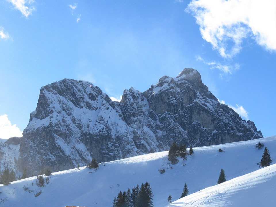 Mountain, Snow, Aggentstein, North Wall