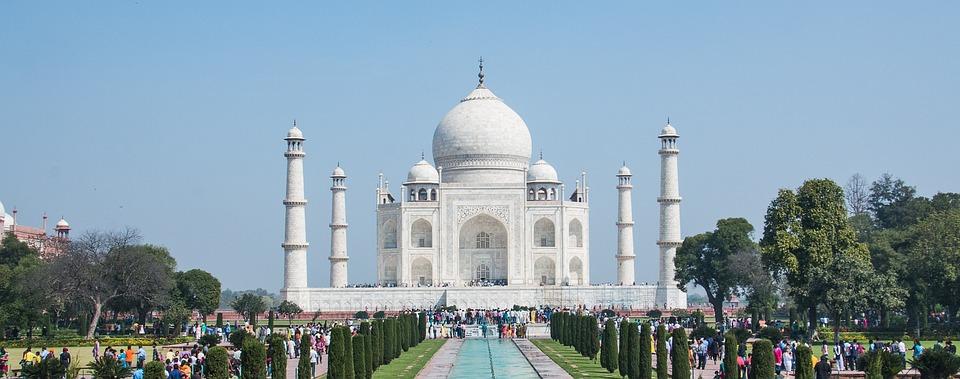 Taj Mahal, Agra, India, Marble, Taj, Mahal, Mausoleum