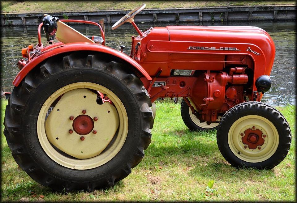 Agriculture, Antique, Old, Tractor, Farm, Porsche
