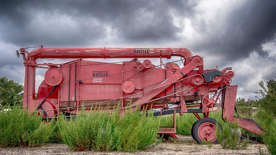 Combine Harvester, Agriculture, Grain, Harvest, Field