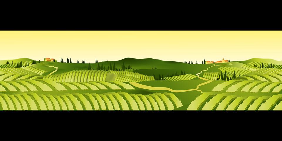 Agriculture, Hills, Landscape, Village