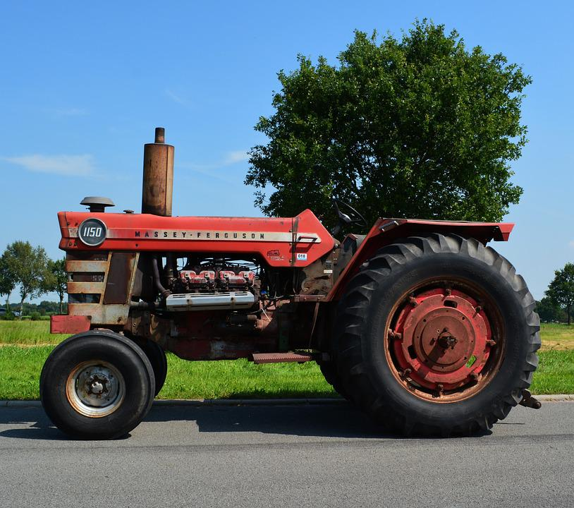 Tractor, Vehicle, Machine, Massey Ferguson, Agriculture