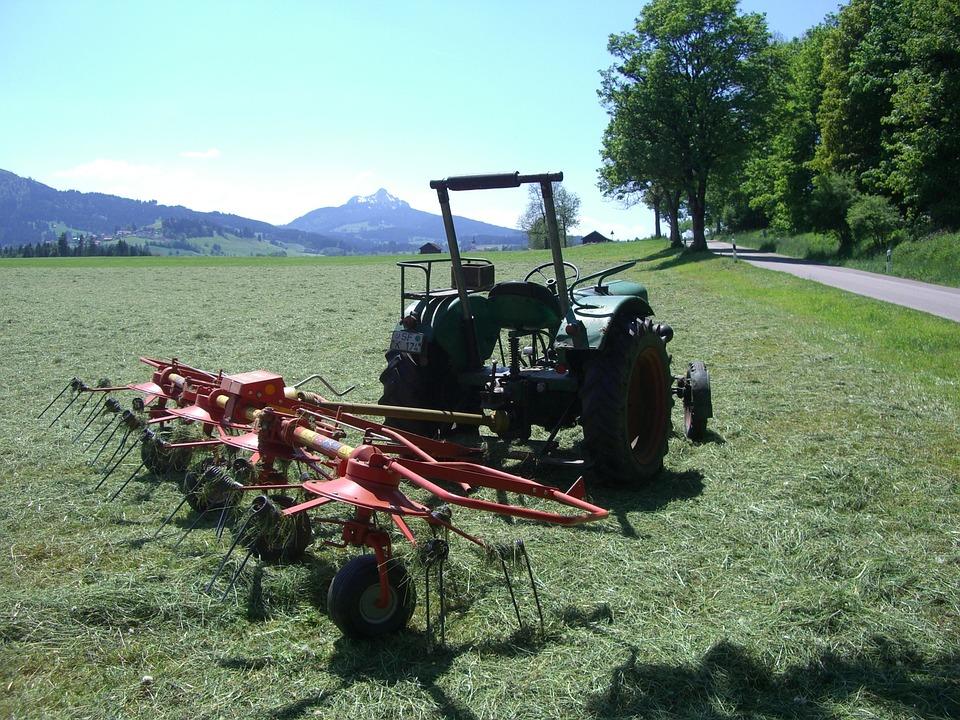 Hay Tedders, Tractor, Agriculture, Fieldwork, Greened