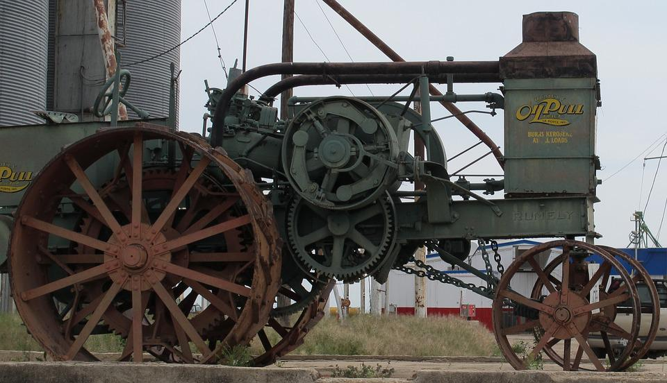 Steam, Steam Tractor, Tractor, Machine, Agriculture