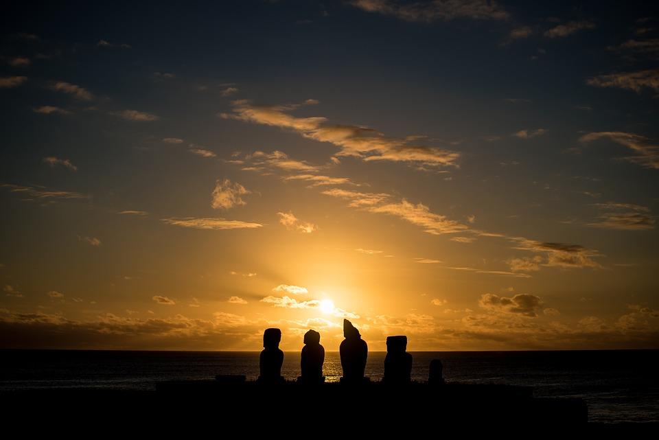 Easter Island, Chile, Statues, Ancestors, Ahu Tahai