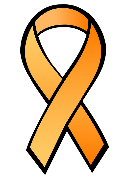Ribbon, Satin, Orange Ribbon, Medical, Hiv, Aids