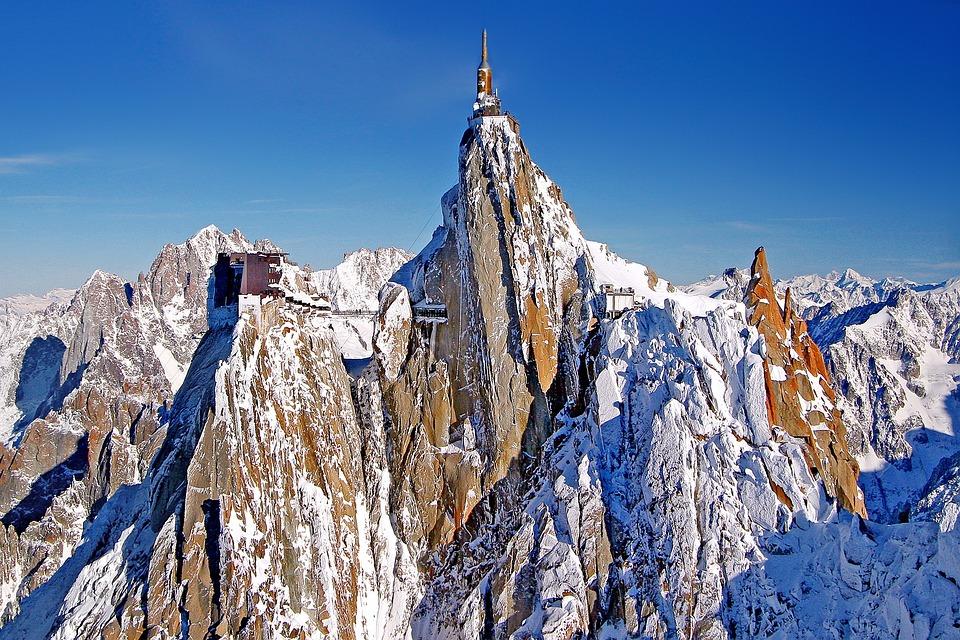 Aiguille Du Midi, Alpine, Mountains, Chamonix