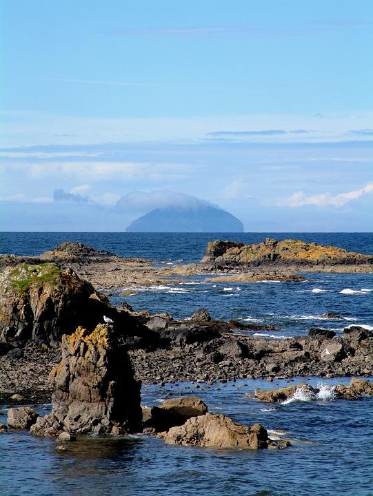 Scotland, Ayrshire, Ailsa Craig, Water, Sea, Lake