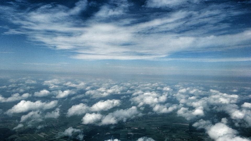Sky, Clouds, Air, Aircraft