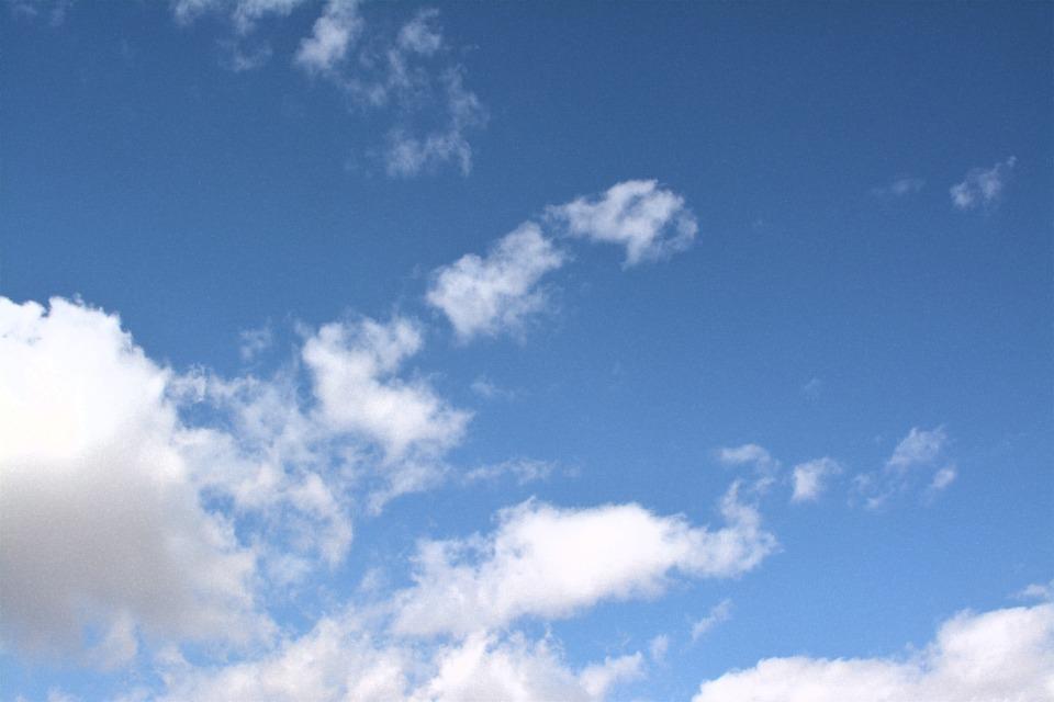 Sky, Clouds, Blue, Cloudscape, Air, Heaven, Environment