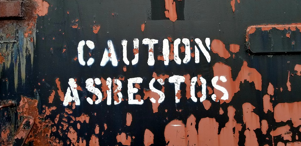Caution Sign, Asbestos, Rust, Abandoned, Air Force Base