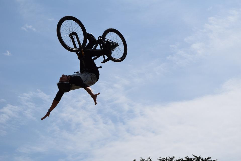 free photo air freestyle bicycle trick stunt bike danger max pixel