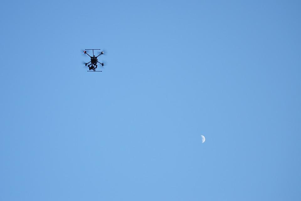 Drone, Air, Moon, Technology, Remote, Aircraft, Copter