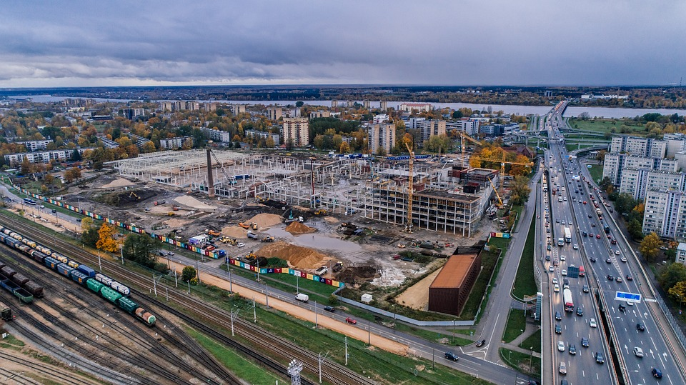 Riga, Latvia, Drone, Helicopter, Copter, Air Photo