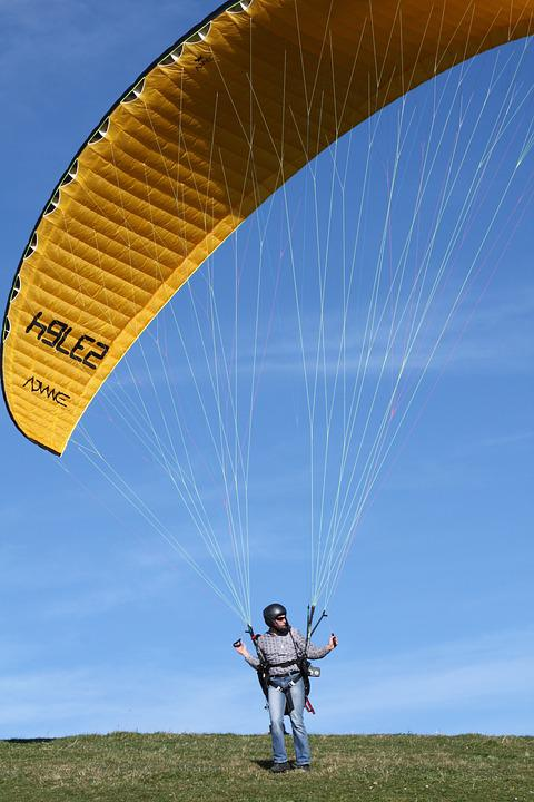 Paragliding, Paraglider, Air Sports Device, Man, Person
