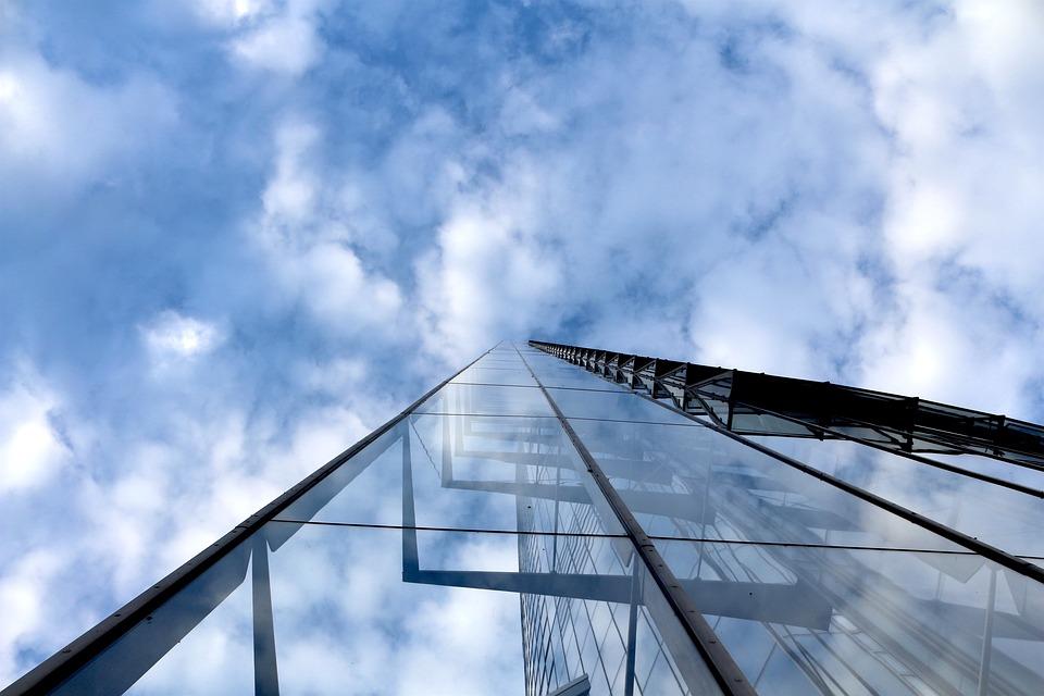 Air, Bonn, Clouds, The Post Tower, Top