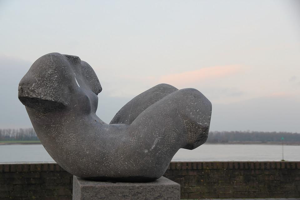 Zaltbommel, Art, Woman, Image, Air, Water
