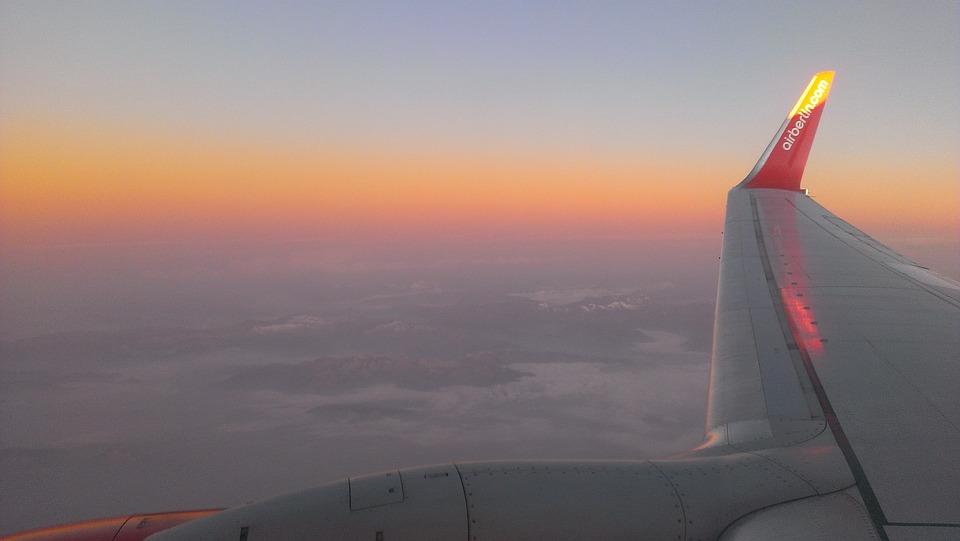 Sky, Alpine, Airberlin, Sunrise
