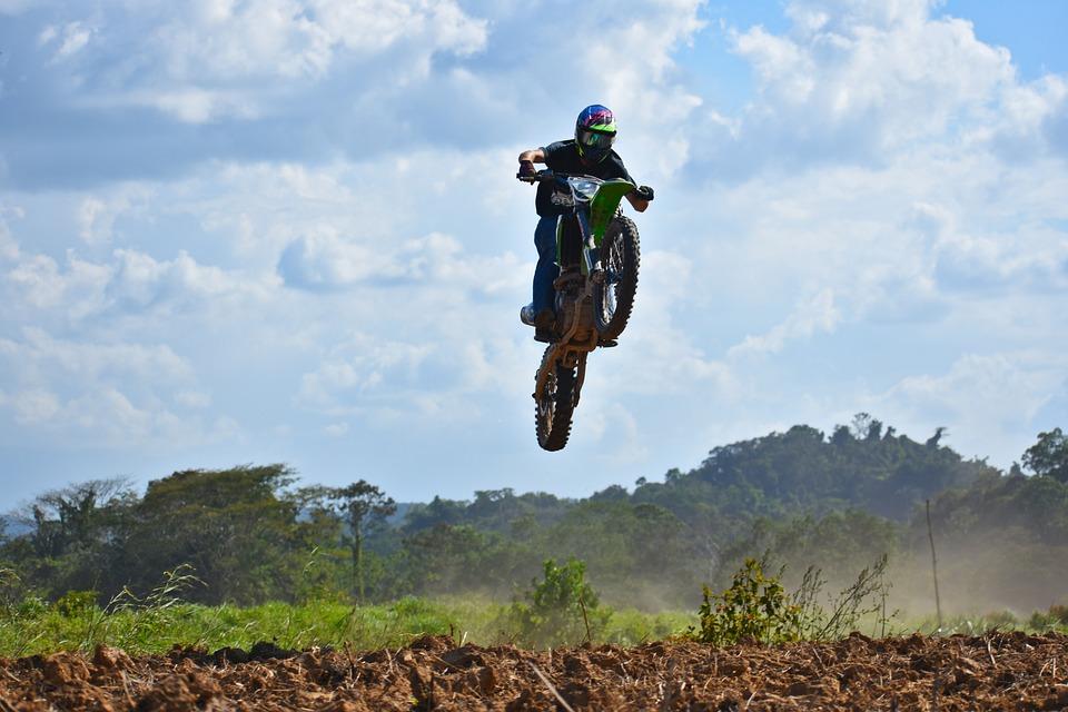 Motocross, Jump, Airborne, Dangerous, Dirtbike, Ramp