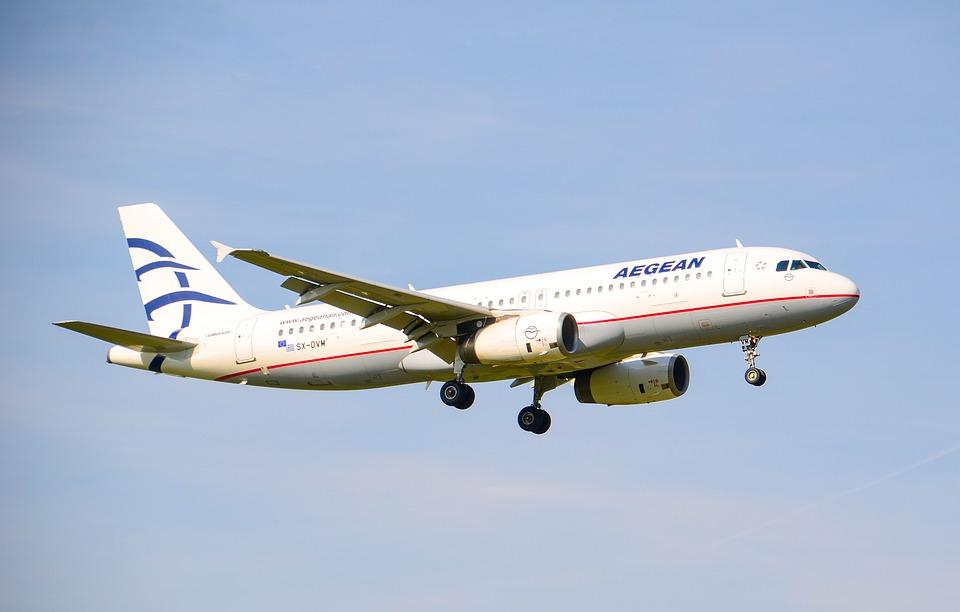 Aircraft, Jet, Aegan, Travel, Greece, Airbus, A320