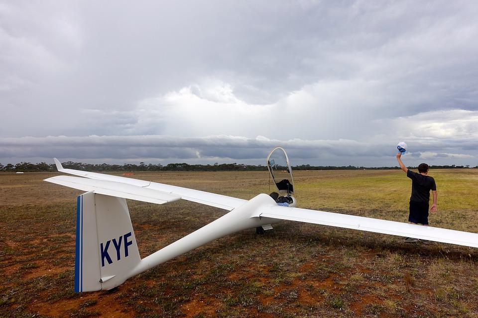 Glider, Runway, Aviation, Aircraft, Flying, Landing