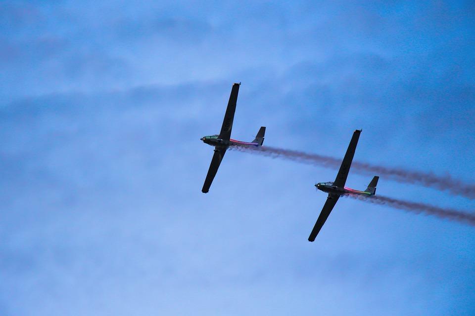 Aircraft, Sky, The Plane, Flight, Clouds, Air Show