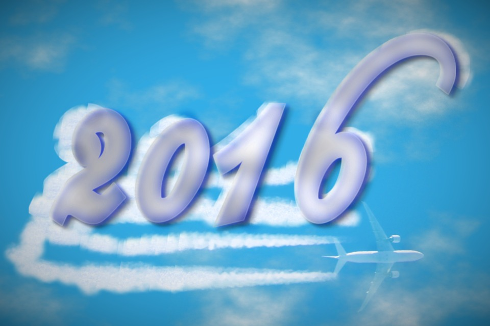 Sky, Clouds, Aircraft, 2016, New Year's Eve