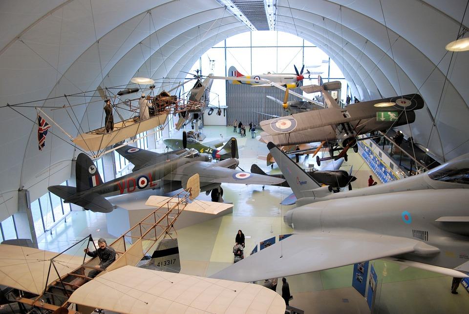 Museum, Aircraft, Vintage, Propeller, Bi-wing, Display