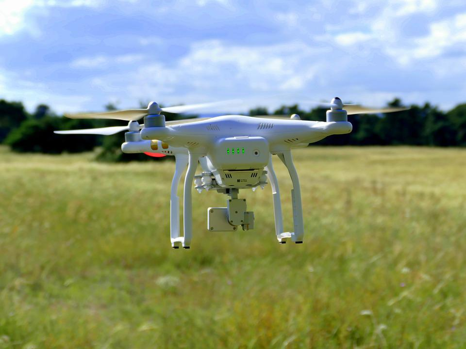 Drone, Aircraft, Flying, Flight, Rotor Blades