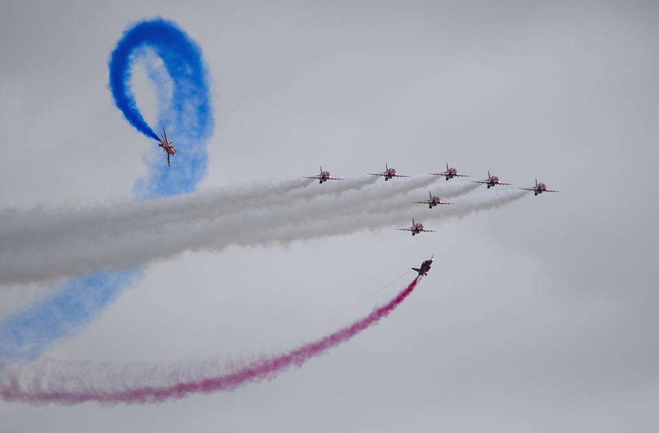 Red Arrows, Jets, Aircraft, Plane, Airshow, Airplane