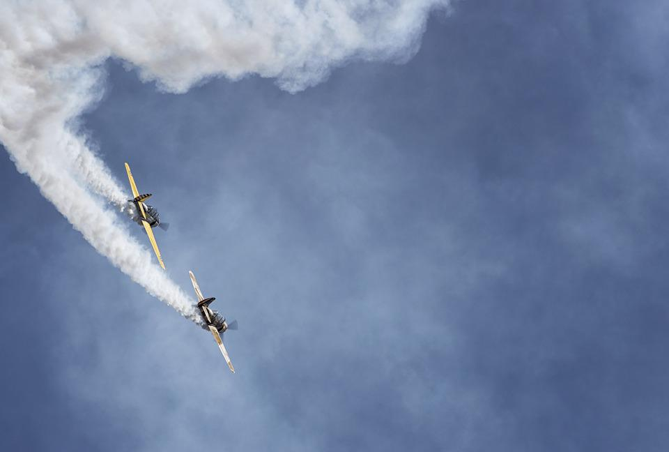Plane, Air Show, Sky, Aircraft, Aviation, Stunts