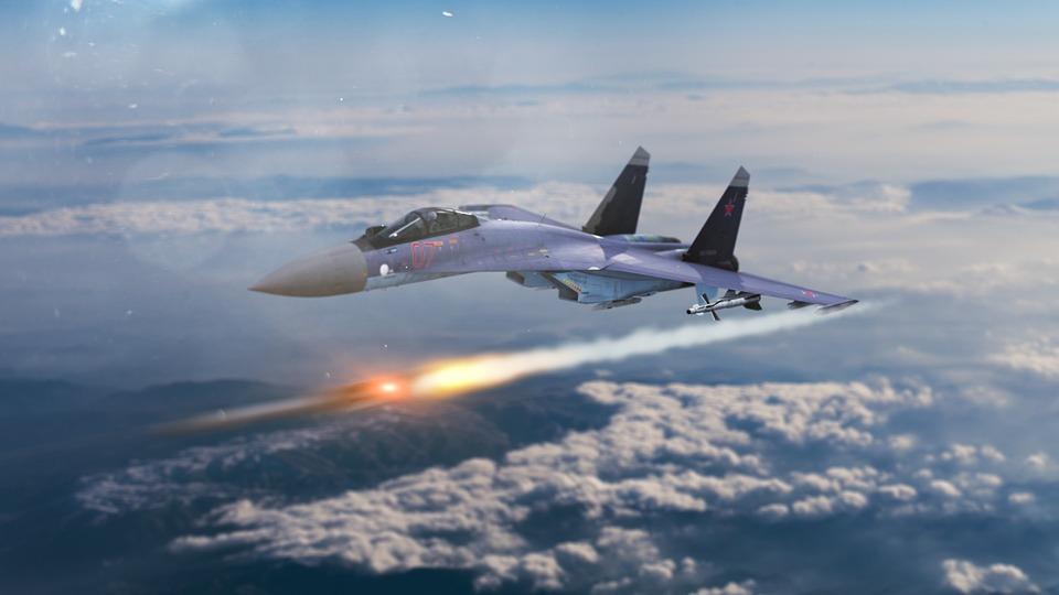 Free photo Aircraft Su-35 Jet-fighter Russian Sukhoi-35