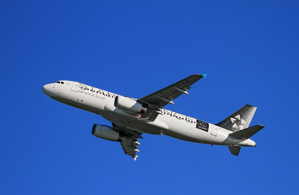 Aircraft Take-off, Air New Zealand, Airbus, A320