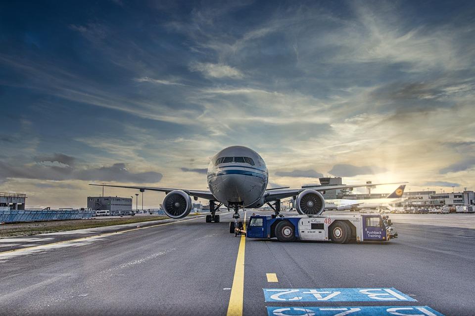 Airplane, Runway, Airport, Tarmac, Aircraft, Vehicle