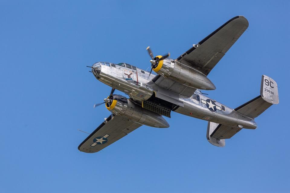 B25, B-25, Mitchell, Bomber, Airplane, Aircraft