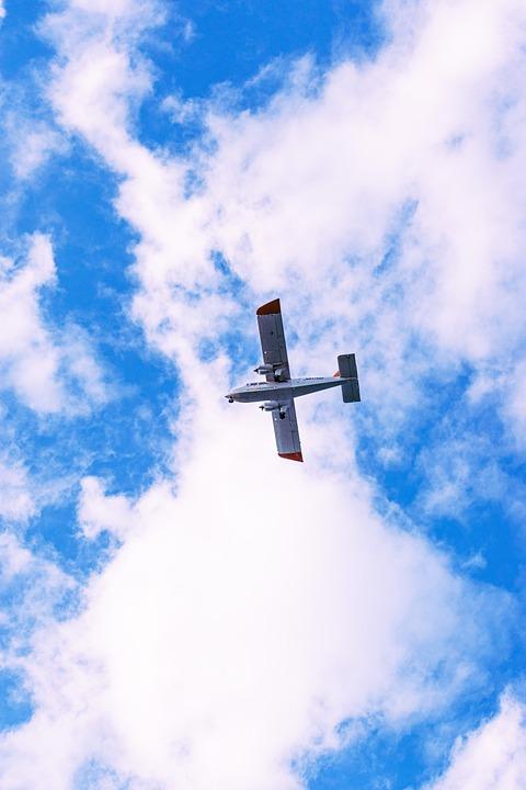 Airplane, Sky, Clouds, Travel, Transportation