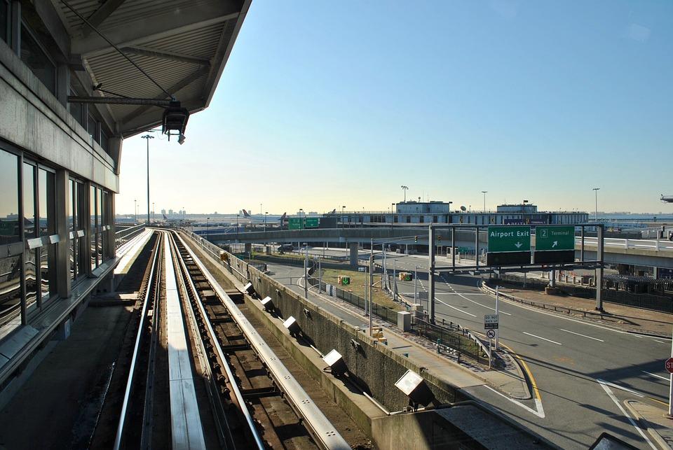 Jfk Airport, Airport Terminal, Train Track, Airport