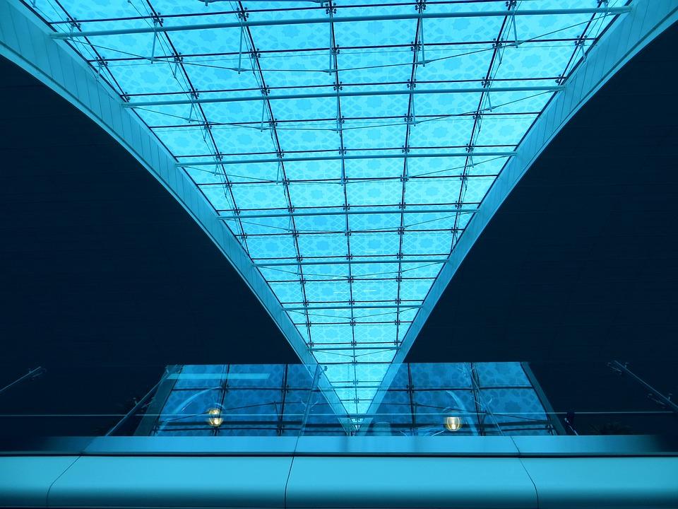 Airport, Dubai, Glass, Travel, Departure, Business