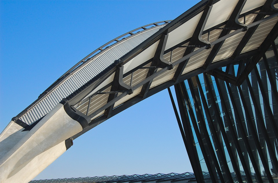 Architecture, Airport, Lyon, Modern, Contemporary