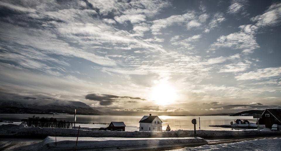 Tromsö, Winter, Airport, Sun