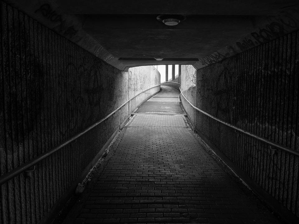 Aisle, Dark, Road, Light, Tunnel, Atmosphere, Lighting
