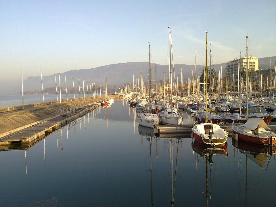 Lake, Boat, Port, Sailboat, Savoie, Aix, Water