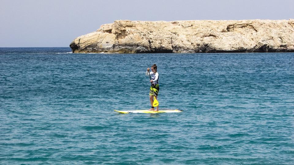Cyprus, Akamas, National Park, Girl, Paddling, Tourism