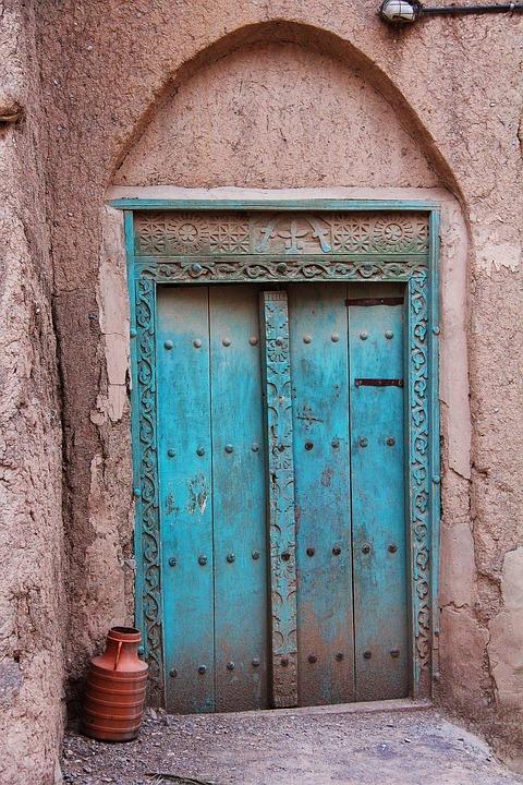 Door, Architecture, Old, Entrance, Doorway, Al Hamra